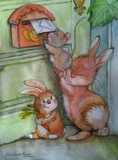 Painting for Children / love letter!! from La buhardilla de Rosi by DaWanda.com