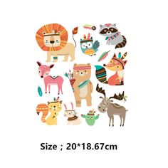 Indian style Cartoon tiger, fox, bird Baby stickers 20*19cm iron on patches DIY child patch on clothes jacket thermal transfer -in Patches from Home & Garden on Aliexpress.com | Alibaba Group