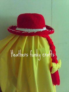 Jessie from toy story hat by heathersfunkycrafts on Etsy, $20.00
