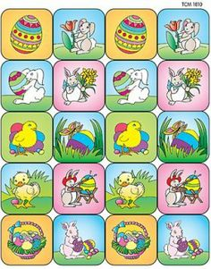 easter contest, easter sticker, stickers, easter classroom, buildabear easter, vintag sticker