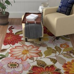 Red Barrel Studio Kriszara Hand Hooked Green/Red Area Rug Rug Size: Rectangle x Aqua Area Rug, Navy Blue Area Rug, Beige Area Rugs, Red And Pink, Green And Grey, Nook Dining Set, Bench With Shoe Storage, Reclining Sectional, Transitional Rugs