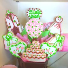 Great wedding or bridal shower gift idea!!! A cookie bouquet from Cookies By Design!!!    www.cookiesbydesign.com
