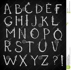 Hand Drawn Alphabet, Doodle Font, Vector Royalty Free Stock Photography - Image…