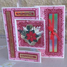 Joan Williams Tri Fold Cards, Fancy Fold Cards, Folded Cards, Tattered Lace Cards, Heartfelt Creations, Smocking, Your Cards, Christmas Cards, Projects To Try