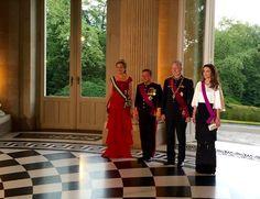 Belgian Royal Palace @MonarchieBe Dîner d'Etat en l'honneur de Leurs Majestés le Roi Abdullah II & @QueenRania #Jordanie #ChâteauLaeken #JORoyalVisit