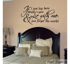 If I Just Lay Here Wall Saying