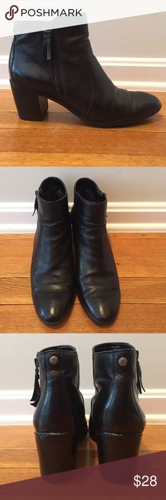 Anne Klein Leather Ankle Boots Classic black leather boots. Very minimal wear and in great condition. Anne Klein Shoes Ankle Boots & Booties