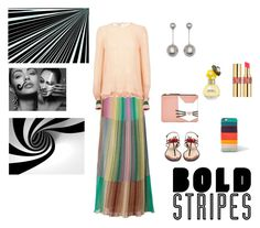 """""""Bold Stripes"""" by malinandersson on Polyvore featuring M Missoni, Karl Lagerfeld, Paul Smith, Gucci, Yves Saint Laurent and Marc Jacobs"""