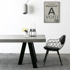 The London Dining Table - Steel and Concrete