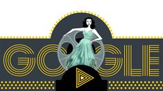 """Hedy Lamarr - a Hollywood star-turned-techie inventor.known for her patent for """"frequency hopping"""" Google Doodles, Hedy Lamarr, Hollywood Star, Typography Logo, Women In History, Motion Design, Art Google, Google Images, Doodle Art"""