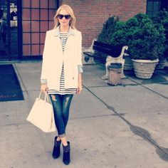 Poppy Delevingne wearing our MICHIGAN SS13 coat - Sandro Paris