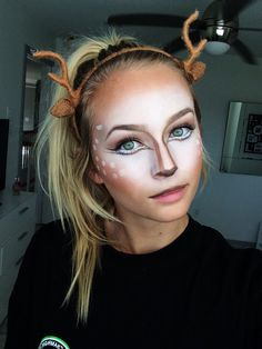 deer makeup could be good for Halloween! Couple Halloween Costumes, Halloween Make Up, Halloween Party, Deer Halloween Makeup, Teen Costumes, Woman Costumes, Pirate Costumes, Princess Costumes, Group Costumes