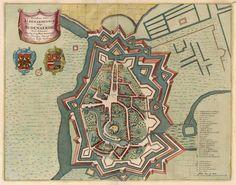 Antique map of Oudenaarde, Belgium by De Wit F. 1698