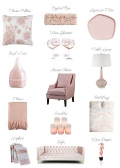 Blush Pink Accessories For The Home Decor