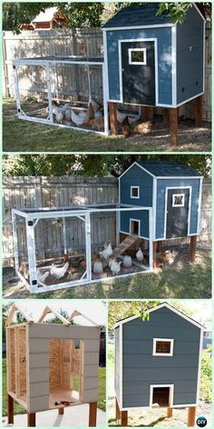 DIY small chicken coop with free plan & instructions - DIY . - Furnishing the house: design and decoration ideas - DIY small chicken coop with free plan & instructions – DIY … … – Furnish a ho - Chicken Coop On Wheels, Walk In Chicken Coop, Mobile Chicken Coop, Chicken Coop Pallets, Small Chicken Coops, Chicken Barn, Easy Chicken Coop, Portable Chicken Coop, Backyard Chicken Coops