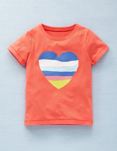 Boden t shirt could be easily done out of torn overlaid appliqué in heart shape for lala