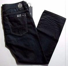 Buffalo David Bitton Six Mercer crinkled dark size 38x32 NEW on sale MSRP$119.00 #BuffaloDavidBitton #SlimStraight