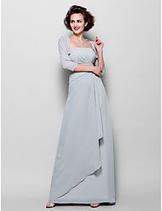 Sheath/Column Strapless Floor-length Chiffon Mother of the Bride Dress (1798943). Get unbeatable discounts up to 70% Off at Light in the box using Mother's Day Promo Codes.