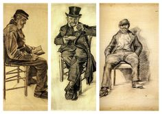 Vincent Van Gogh Collection XV (Seated Man)