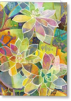 Succulent Mirage 1 Greeting Card by Hailey E Herrera