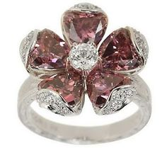 Tacori | Tacori IV Diamonique Epiphany Flower Simulate Tourmaline Ring — QVC ...