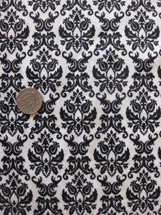 Black & White Damask PUL Fabric By  The  Half  Yard by BabyTork, $5.00