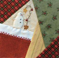 how to do crazy patchwork Crazy Quilt Stitches, Crazy Quilt Blocks, Quilt Block Patterns, Crazy Quilting, Christmas Blocks, Christmas Sewing, Christmas Stuff, Christmas Art, Quilt Stitching