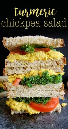 Turmeric Chickpea Salad – a yummy vegan sandwich idea! Turmeric Chickpea Salad – a yummy vegan sandwich idea! Vegan Sandwich Recipes, Healthy Sandwiches, Salad Recipes, Lunch Sandwiches, Chickpea Recipes, Vegetarian Recipes, Healthy Recipes, Easy Recipes, Chickpea Meals