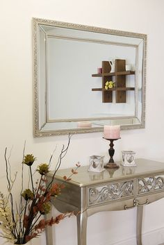 56047925de5 Large Richmond Elegant Silver Glass Mirror 115x84cm