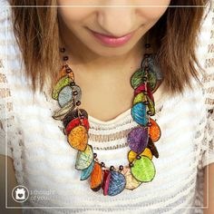 Share in our Fair Trade style on this Wanderlust Wednesday <3 The colorful leaves of our lightweight Folla Necklace are made of fibers from the fique plant in South America. Pick up this bestseller for yourself.