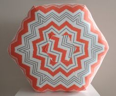 This chevron pouf in zazzle fabric will bring a unique style to any room. Floor poufs are versatile and can be moved around easily. A unique and modern decor for your family room, dorm, bedroom and more. Just pull up a pouf. Can be customized to match your decor.  Filled with premium polyester fiber filling making this floor pillow firm but soft to the touch.  diameter across the top, corner to corner : 24 - 26 inches depending on pattern Floor to top of pouf approx 15 inches  -Home decor…