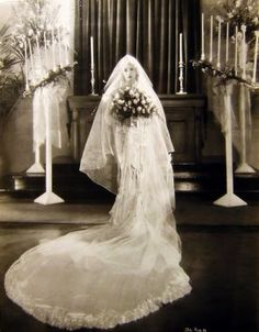 Actress Betty Compson in a spectacular wedding gown 1920s.jpg