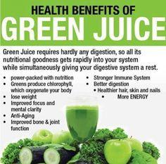 Healthy benefits of green juice