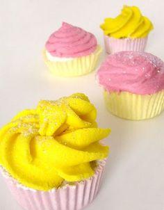 Bath bomb cupcakes