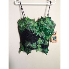Custom Poison Ivy Costume | eBay ❤ liked on Polyvore featuring costumes, poison ivy halloween costume, green halloween costumes, poison ivy costume and green costumes