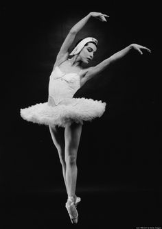 """Maria Tallchief performing """"Swan Lake"""" in December of 1960. (Photo by Jack Mitchell/Getty Images)"""