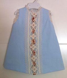 Jesusito dress baby blue pique.