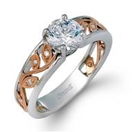 Simon G All Others 18k - White Gold Diamond Engagement Ring