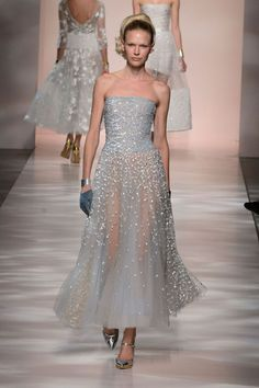 Awesome Evening dresses Georges Chakra | Spring 2015 Couture | 14 Blue embellished strapless midi dress... Check more at http://24myshop.tk/my-desires/evening-dresses-georges-chakra-spring-2015-couture-14-blue-embellished-strapless-midi-dress/