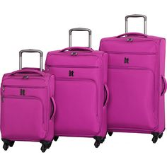 5eccada7d Details about Gabbiano The Macan 3 Piece Expandable Hardside Spinner Luggage  Set NEW