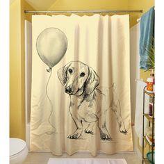 Love This Dachshund Curtain. Thumbprintz Lulu Shower Curtain | Overstock™  Shopping