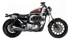 Harley Davidson Sportster Street Tracker by Officine Sbrannetti #motorcycles #streettracker #motos | caferacerpasion.com
