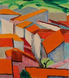 "Saatchi Art Artist Christian Bastian; Painting, ""ROOFTOPS N° 11"" #art"
