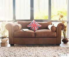 Chesterfield sofa modern braun  DELIFE Sofa Chesterfield 200x92 cm Braun 3-Sitzer, Chesterfields ...