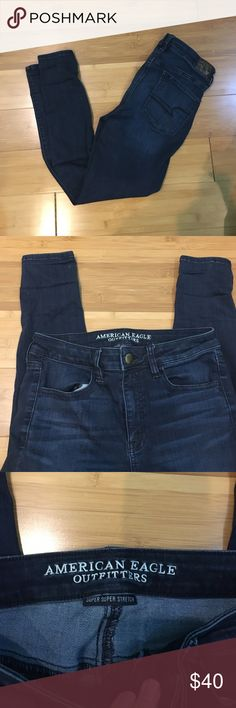 AEO High rise jeggings Super stretchy. Practically new. Jeans
