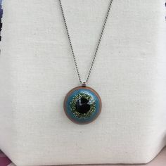 Resin Pendant Necklace by ThReAdTeDs on Etsy