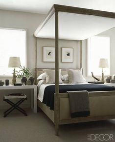 Canopy Bed Style Inspiration - Beautiful Canopy Bed Bedrooms - ELLE DECOR