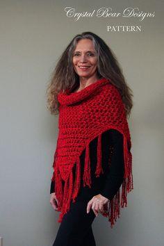 Hooded Cowl Crochet PATTERN / Hooded Scarf by CrystalBearDesigns
