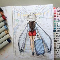 Все в отпуск! Море зовёт. 😎 В такой чемоданчик я бы положила книжечки, маркеры и немного вещей. 😊 #ssc_janelipart