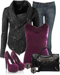 """Leather Lace Jacket"" by denise-schmeltzer ❤ liked on Polyvore"
